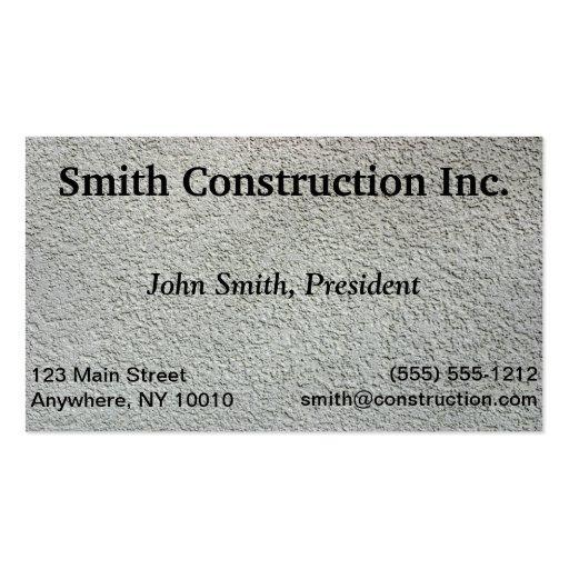 Cartão de indústria da construção modelo cartões de visita