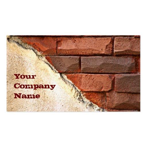 Cartão de indústria da construção modelos cartão de visita