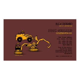 Cartão de indústria da construção cartão de visita
