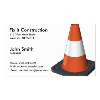 Cartão de indústria da construção cartoes de visitas