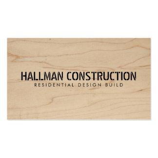 Cartão de indústria da construção de madeira cartão de visita
