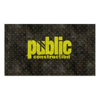 Cartão de indústria da construção do metal cartao de visita