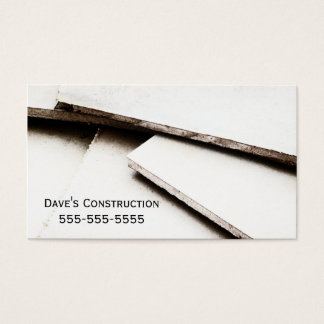 Cartão de indústria da construção simples do