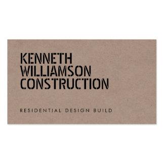 Cartão de indústria da construção Stenciled Cartão De Visita