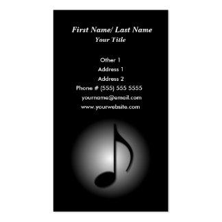 Cartão de indústria musical cartoes de visitas