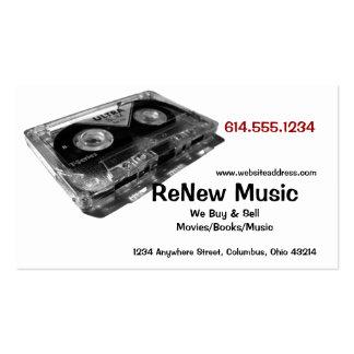 Cartão de indústria musical do design 1 da cassete cartão de visita