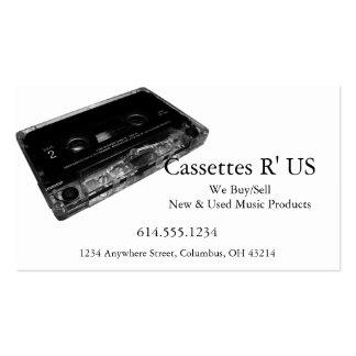 Cartão de indústria musical do design 2 da cassete cartão de visita