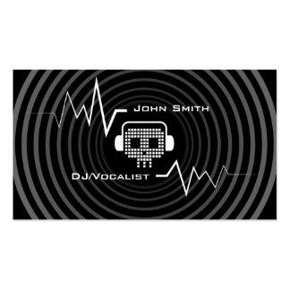Cartão de indústria musical elétrico do DJ do Cartão De Visita