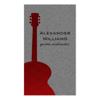 Cartão de indústria musical listrado da guitarra,  modelo cartão de visita