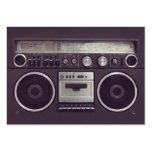 Cartão de indústria musical retro do dinamitador d modelo de cartões de visita