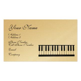Cartão de indústria musical - teclado - piano cartoes de visita