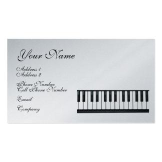 Cartão de indústria musical - teclado - piano modelo cartão de visita