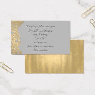 Cartão de informação chique do casamento das