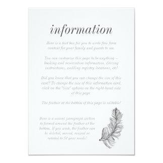 Cartão de informação cinzento do Birds of a Convite 11.30 X 15.87cm