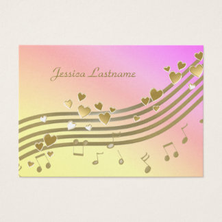 Cartão de informação da canção de amor