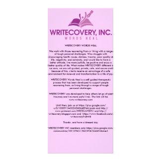 Cartão de informação de WRITECOVERY Modelos De Panfletos Informativos