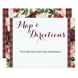 Cartão de informação do casamento do buquê de