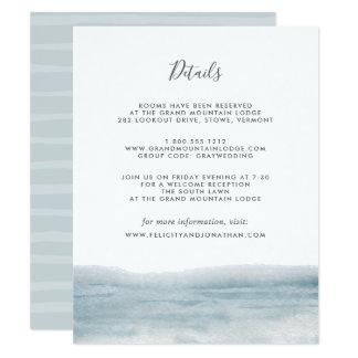 Cartão de informação do convidado da maré baixa