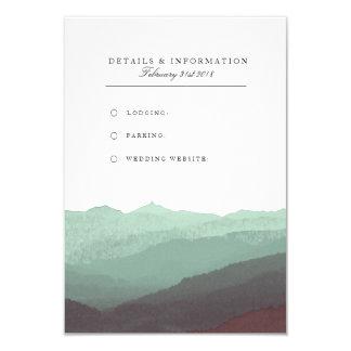 Cartão de informação moderno da montanha da convite 8.89 x 12.7cm