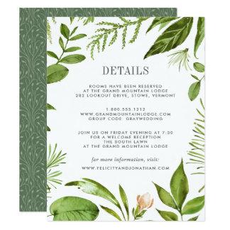 Cartão de informação selvagem do convidado do convite 10.79 x 13.97cm