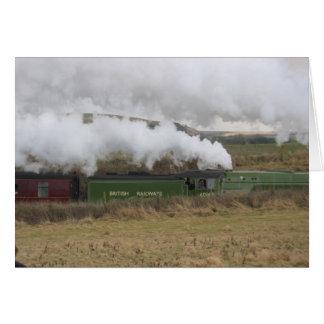 Cartão de Inglaterra do trem do vapor