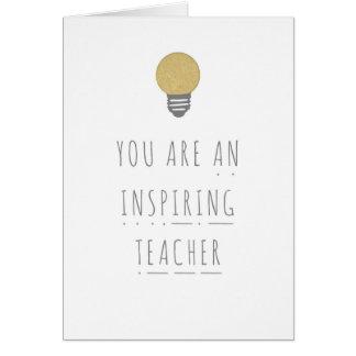 Cartão de inspiração da fónica do professor