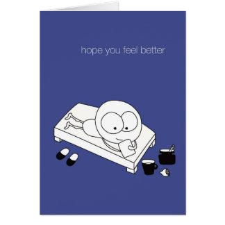 """Cartão de inspiração """"esperança você sente melhor"""