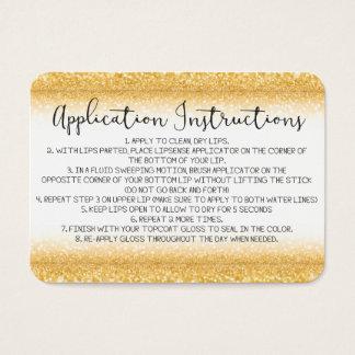 Cartão de instruções da aplicação