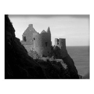 Cartão de Irlanda do Norte do castelo de Dunluce