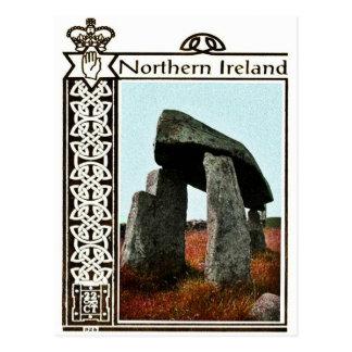 Cartão de Irlanda do Norte do vintage