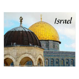Cartão de Israel com a foto da abóbada da rocha