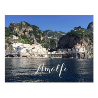 Cartão de Italia da costa de Amalfi