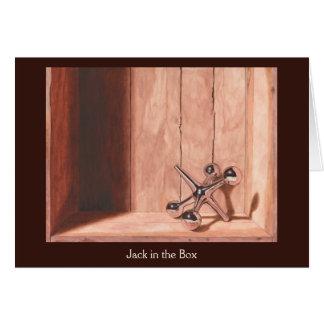 Cartão de Jack in the Box - 5x7 com envelope
