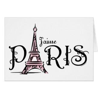 Cartão de J'aime Paris