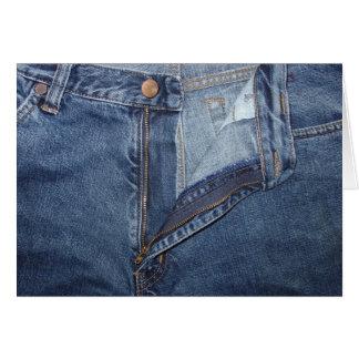 Cartão de jeans