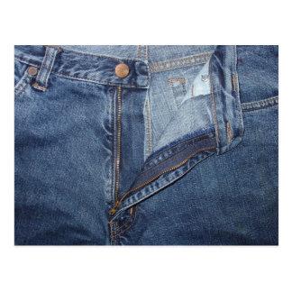 Cartão de jeans cartoes postais