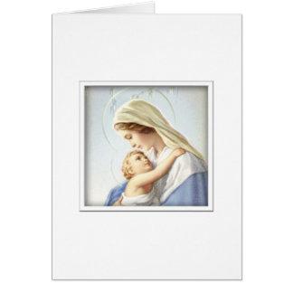 Cartão de Jesus da Virgem Maria e do bebê