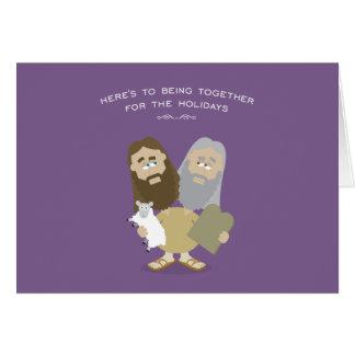 Cartão de Jesus & de Moses