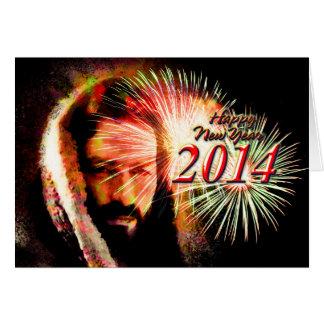 Cartão de Jesus do amor do feliz ano novo 2014