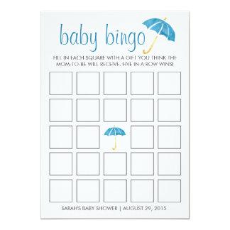 Cartão de jogo azul do Bingo do chá de fraldas dos Convite 12.7 X 17.78cm