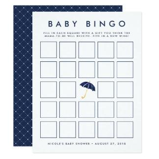 Cartão de jogo do Bingo do chá de fraldas do Convite 10.79 X 13.97cm