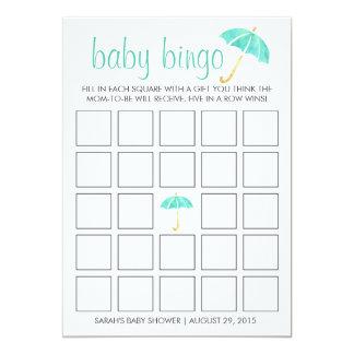 Cartão de jogo do Bingo do chá de fraldas dos Convite 12.7 X 17.78cm