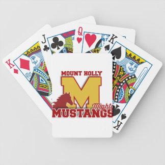 Cartão de jogo do mustang baraloho de pôquer
