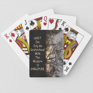 Cartão de jogo escuro jogo de baralho