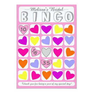 Cartão de jogo nupcial customizável do bingo convite