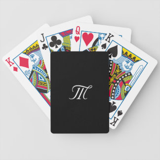 Cartão de jogo preto e branco do monograma jogo de carta