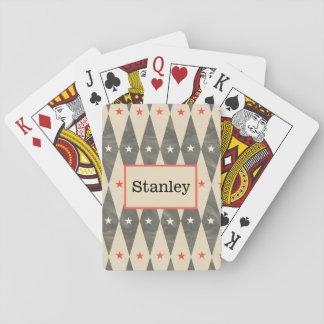 Cartão de jogo preto vermelho personalizado jogos de baralhos