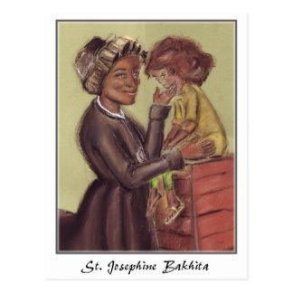Cartão de Josephine Bakhita da rua
