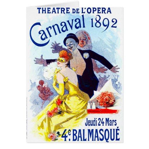 Cartão de Jules Cheret Carnaval