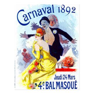 Cartão de Jules Cheret Carnaval Cartão Postal